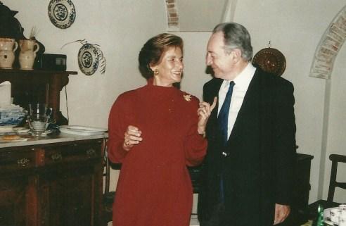 Pierfrancesco Venerosi Pesciolini con la moglie Carla