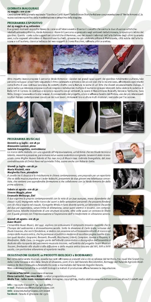 La Verde Armonia 2014 Programma