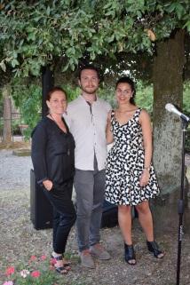 Francesca con Bizzarri e Lupi