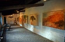 La Limonaia allestita con le opere di Carlo Romiti